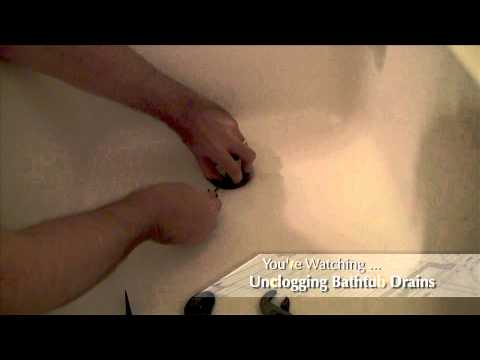 how to unclog a slow draining bathtub drain youtube