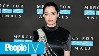 Rose McGowan Speaks Out Against Stars Wearing Black At The Golden Globes | PeopleTV