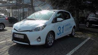 Toyota Yaris / Vitz Hybrid 2014, Start Up, Test Drive