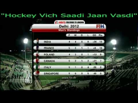 FIH Mens Olympic Qualifier 24 Feb 2012 - India 4 - 2 Poland