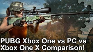 PUBG - Xbox One vs PC vs Xbox One X Graphics Comparison