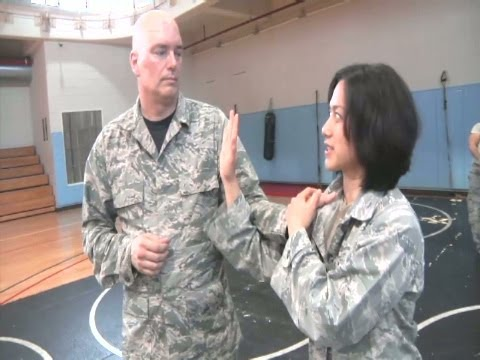 AFN Osan - 694th ISS Airmen learn self defense