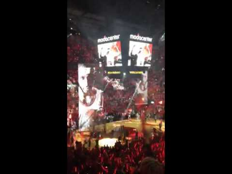 Blazers vs Spurs Playoff intro 2014