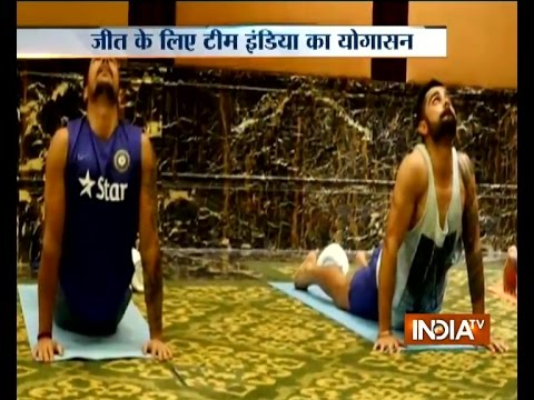 Yoga session organised for Team India ahead of West Indies tour