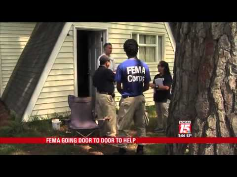 FEMA Workers Go Door-to-Door