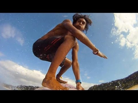 Surfing with Kaoli (GoPro)