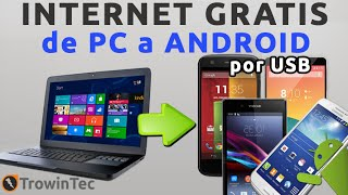 Compartir/Transferir Internet Gratis De Una Pc/Laptop A