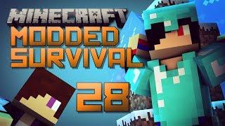 SO MANY FIRE BATS [Minecraft: Modded Survival - Episode 28]