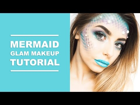 EASY MERMAID GLAM HALLOWEEN MAKEUP TUTORIAL I COCOCHIC