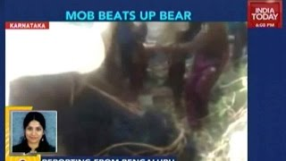 Exclusive: Armed Villagers Beat Bear