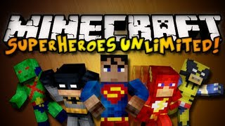 Minecraft Superheroes Unlimited Mod SUPERMAN, BATMAN