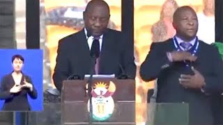 Fake Sign Language Interpreter Not Even Close At Mandela Funeral