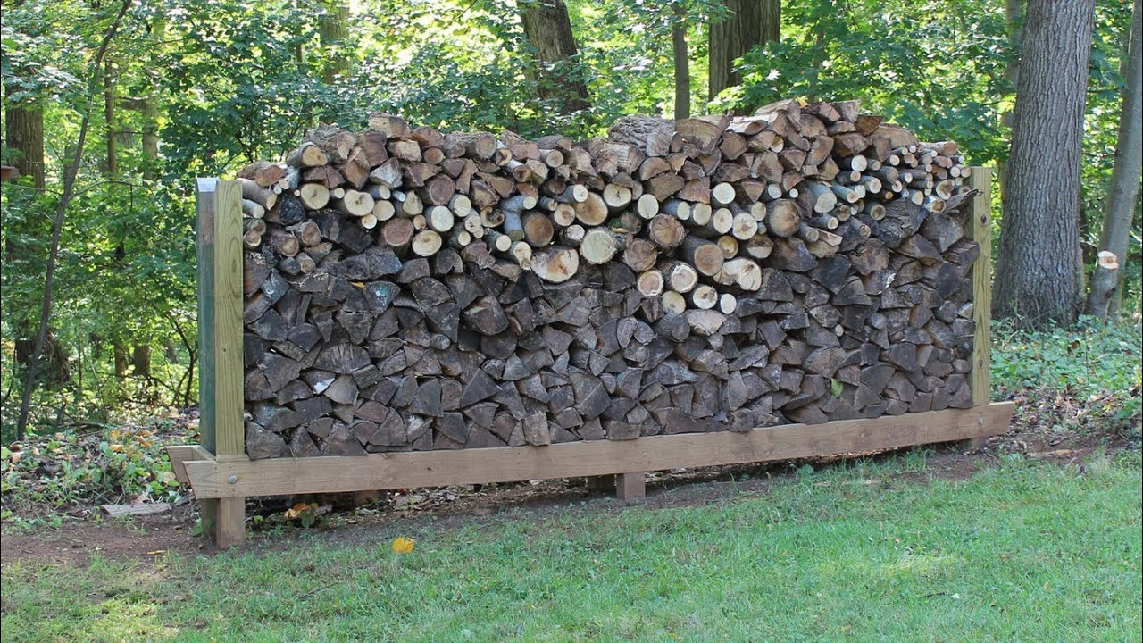 How to build, make a Log Rack by Jon Peters - YouTube