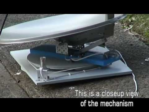 Homemade Portable Automatic Satellite Dish For Caravan