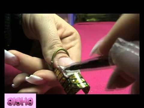 Principiantes:Tutorial de cómo hacer uñas acrílicas con moldes reusables -Deco aluminio -