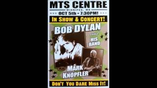 Bob Dylan In Concert: Winnipeg, Manitoba, Canada October