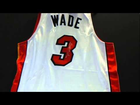 Dwayne Wade Miami Heat Autographed White Swingman Jersey with Wade Hologram