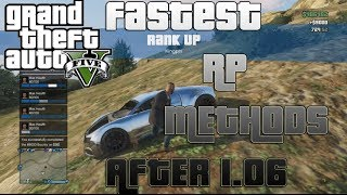 """NEW"" GTA V Online: The FASTEST RP METHODS Level UP FAST"