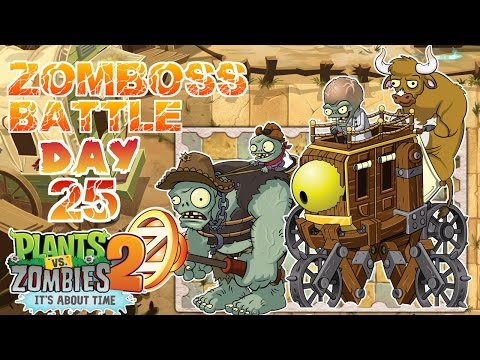 Wild West Day 25 - Dr. Zomboss Battle | Plants Vs Zombies 2