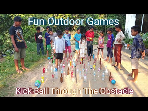 Kick Ball Through The Obstacle | Fun Outdoor Games | Fun Team Building Games
