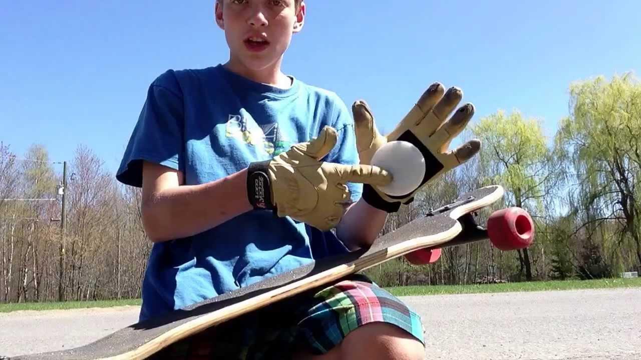 how to make homemade longboard sliding gloves