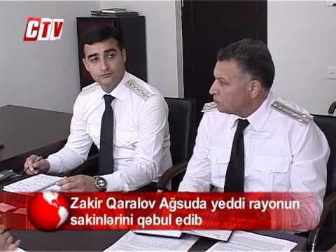 Zakir Qaralov Ağsuda yeddi rayonun sakinlərini qəbul edib
