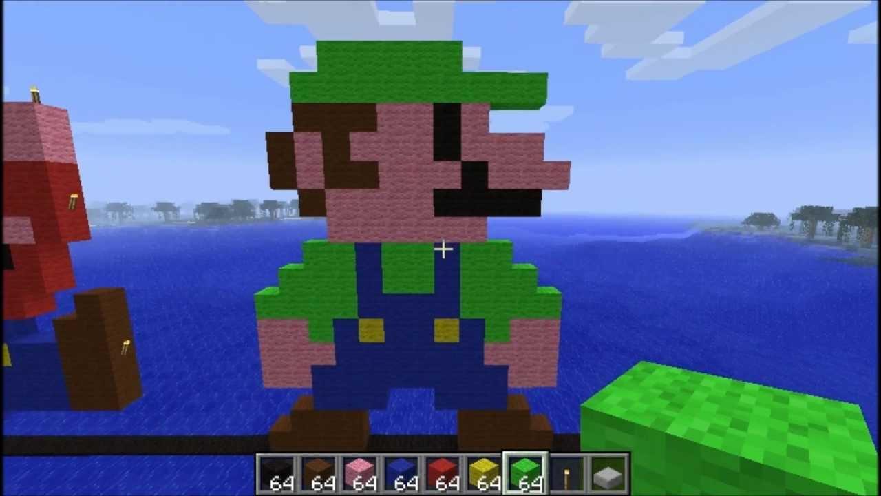 Luigi Pixel Art & More Minecraft Project