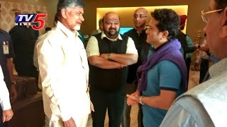 Sachin Tendulkar Meets AP CM Chandrababu in Delhi..
