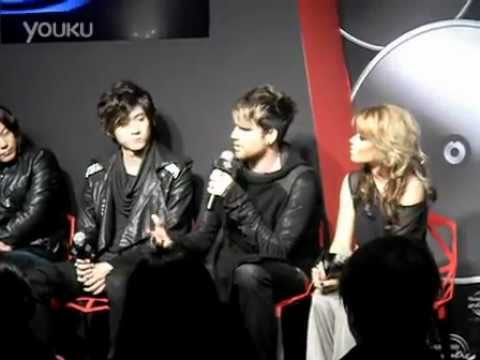 Adam Lambert - press conference for Hennessy event in Shanghai. 01.12.12 (part2)