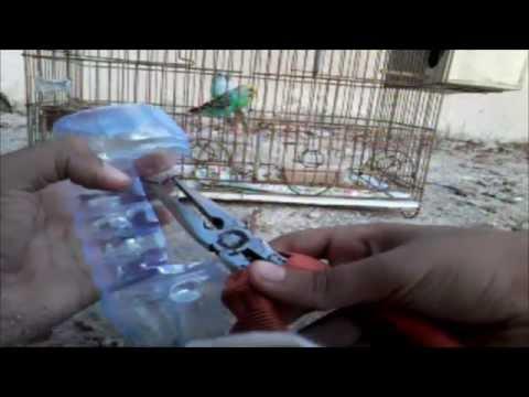 como fazer um mini comedouro para gaiolas (passaros)