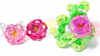 How To Make A Rainbow Loom 3D Flower Bracelet Part 1
