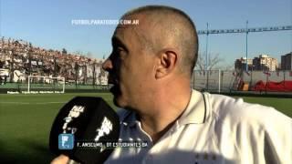 "Anselmo ""Esto emociona"". Estudiantes BA 1- Instituto 0. Copa Argentina 2014. 8vos. FPT"