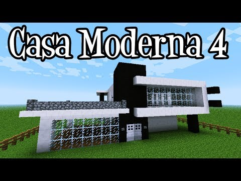 Tutoriais minecraft como construir a casa moderna 4 youtube for Casa moderna minecraft pe 0 10 4