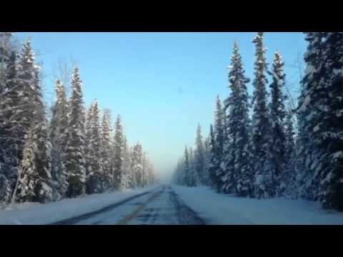 Driving in -51 degree weather Tok Alaska