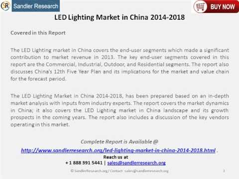 LED Lighting Market in China 2014 2018