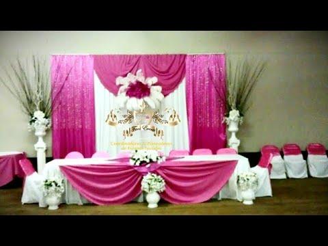 Faos events decoracion de salon color futzia youtube - Decoracion de salon ...