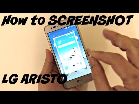 HOW TO SCREENSHOT ON LG ARISTO
