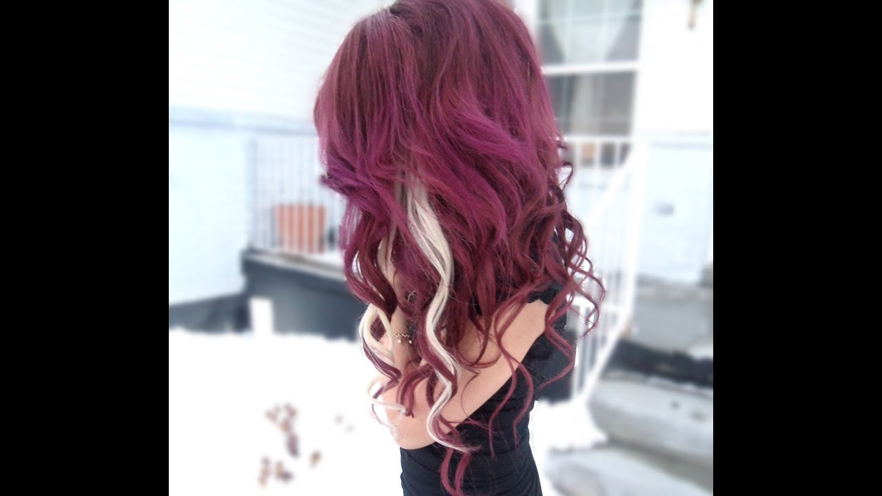 How to dye dark purple hair! - YouTube