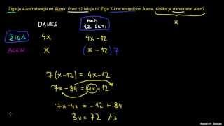 Naloga – računanje let 3