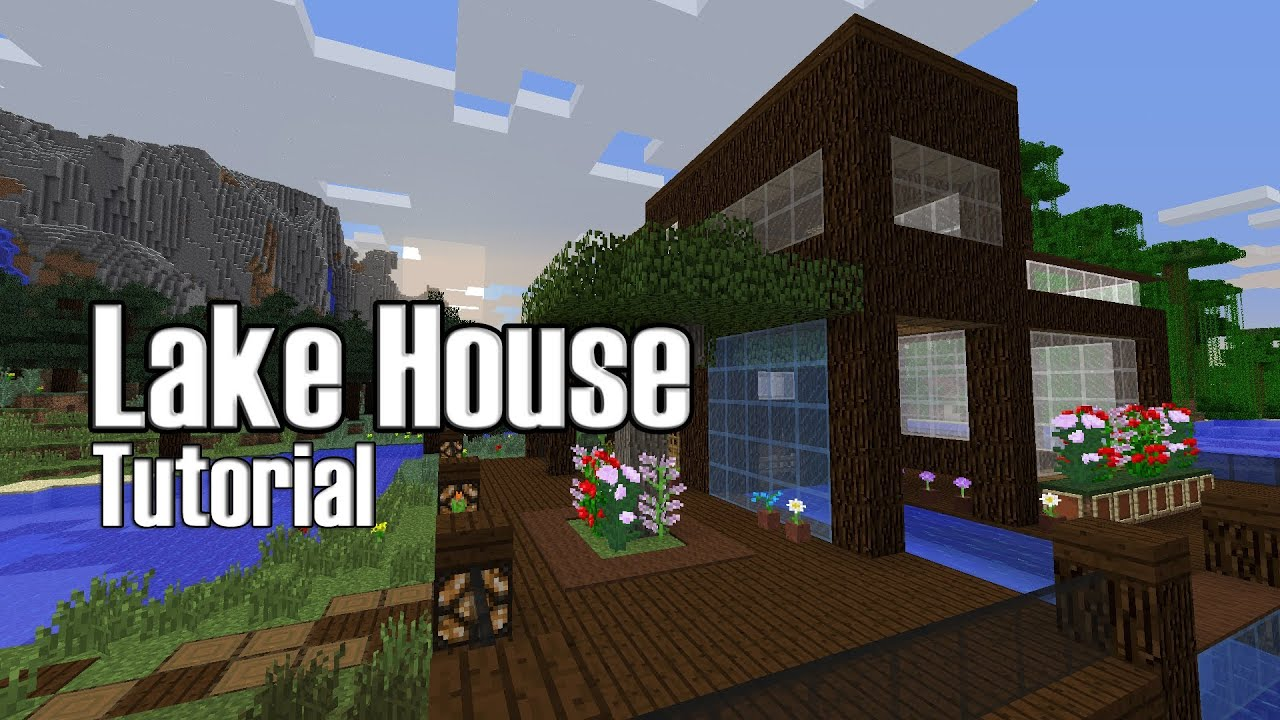 Minecraft: Lake House Tutorial - YouTube