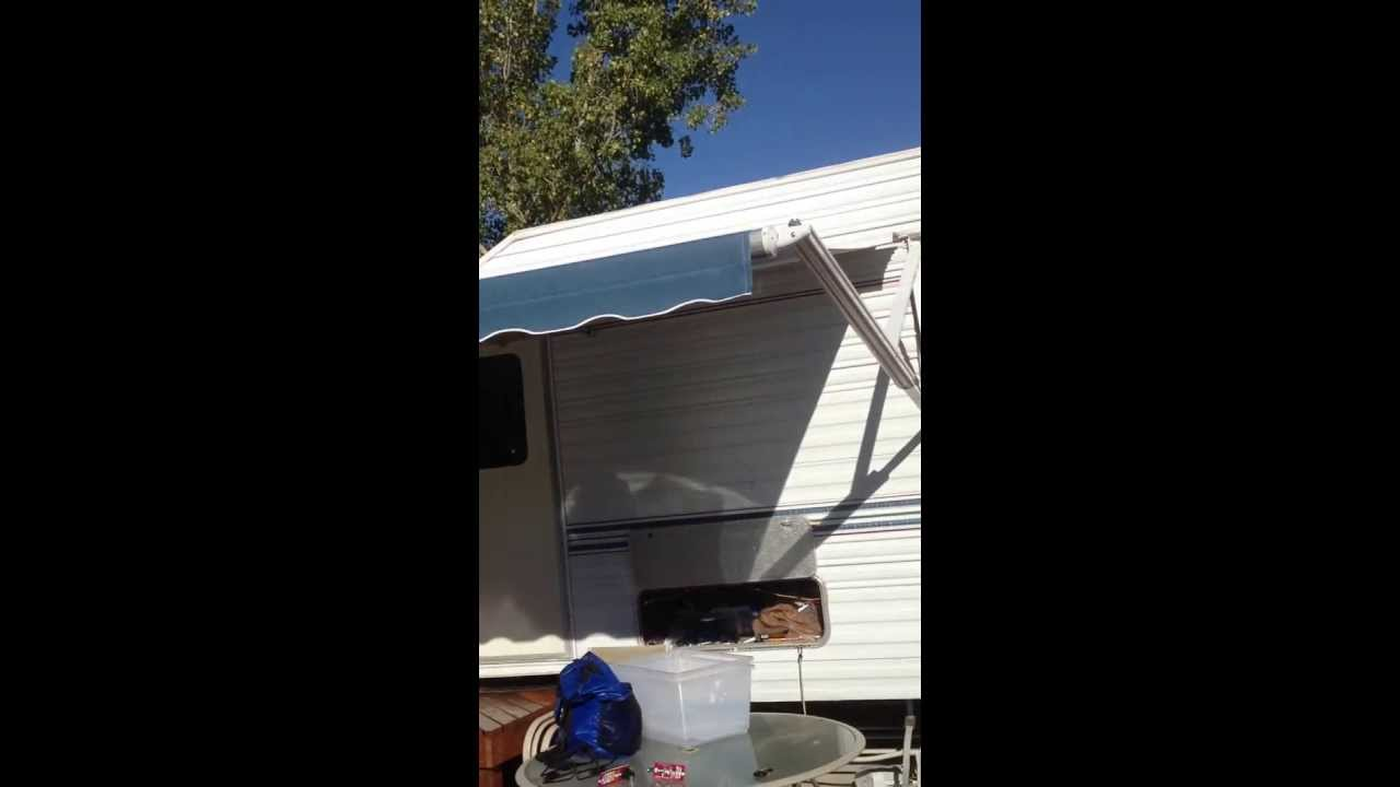 A Amp E Dometic Weather Pro Power Rv Awning Youtube