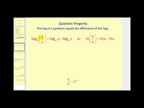The Properties of Logarithms
