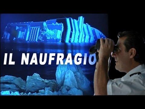 Film: il naufragio della Costa Concordia.