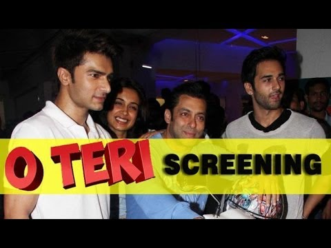 Salman Khan, Pulkit Samrat And Others At The Special Screening Of 'O Teri'