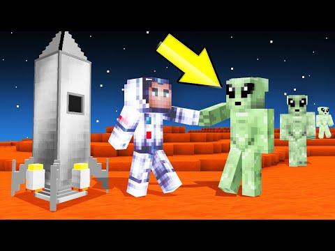 I Found ALIENS In MINECRAFT SPACE! (help)
