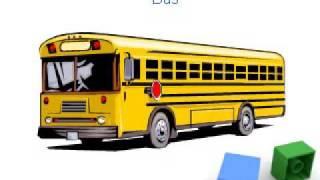 Vehicles flashcards for preschoolers and kindergarten kids, Means of transport flashcards