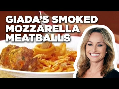 Smoked Mozzarella Meatballs-Food Network, Giada prepares meatballs with a surprise in the center. This video is part of Giada at Home show hosted by Giada De Laurentiis . SHOW DESCRIPTION :On her new...