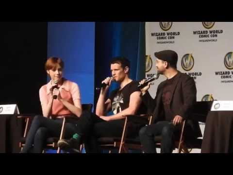 Doctor Who Q&A Panel w/ Karen Gillan and Matt Smith 2014 Wizard World Philly