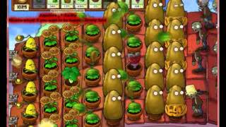 Plantas Vs Zombies Supervivencia Techo En 7 Min