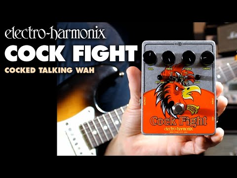 Electro Harmonix Cock Fight Cocked Talking Wah Pedal with Fuzz